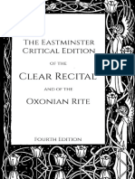 Eastminster Critical Edition of the Clear Recital