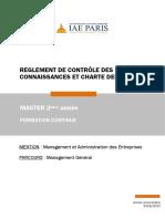 Charte Examens IAE