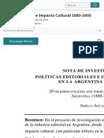 Política Editorial e Impacto Cultural 1880-2000 | Publicación | Propiedad intelectual
