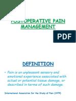 postoperative pain manage