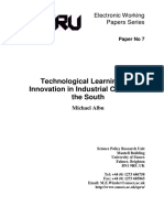 Albu, Technological learning and clusters