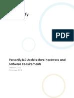Personify360 7.7.0 Architecture Matrix