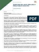 Decreto Ejecutivo Nro. 310 Creación ARCA y EPA_30abr14