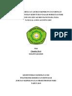 Laporan Askep KDP NERS Di RSD Mangusada Minggu 1 Gangguan Mobilisasi Edisi 2