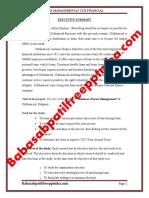 A PROJECT REPORT ON ADVANCES PROCESS MANAGEMENTAT CITI FINANCIAL MBA PROJECT REPORT