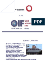 Lucent Technologies at OIF