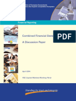 Combined Financial Statements - A Discussion Paper