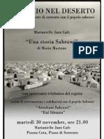 SPECCHIO NEL DESERTO - solidarietà al popolo Sahrawi con proiezione film di Mario Martone Il Colibrì Onlus - Piano di Sorrento 30 novembre 2010
