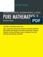 Free PDF (link in description) Edexcel International A Level Mathematics Pure Mathematics 1 Student Book