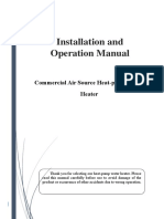 English manual for Split and commecial type water heater