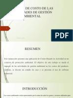 Cálculo de costo de las actividades de gestión ambiental (1)