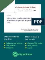 REPORTE DE CASO Injerto óseo