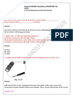CBSE Class 6 SCIENCE electricity and circuits