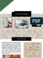 PRESENTACION DE CONTRATO DE PRENDA