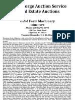 John Hurd Farm Machinery Auction