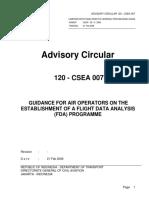 AC 120-CSEA 007 Amdt. 0 - Guidance for Air Operators on the Establishment Of A Flight Data Analysis (FDA) Programme