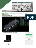 Disque principal SSD M2.2280