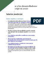 Consejos a desarrolladores de JavaScript en 2020