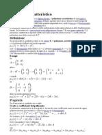 polinomio caratteristico