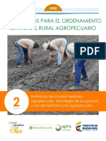 Definicion del modelo Territorial Agropecuario y Estrategia