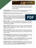 Glosario - Economia Internacional