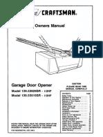 Sears Garage Door Opener Model 139.53515SR Manual