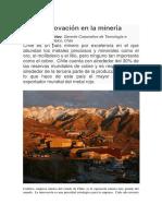 La innovación en la minería
