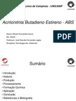 ABS - Acrilonitrila butadieno estireno