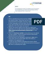 Checklist Required Documents