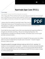 The Ultimate Power Hypertrophy Upper Lower PHUL Workout