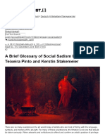A Brief Glossary of Social Sadism by Ana Teixeira Pinto and Kerstin Stakemeier