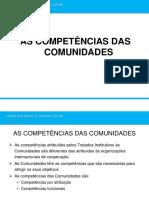 6 - As Competências das Comunidades