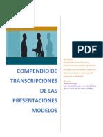 COMPENDIO DE TRANSCRIPCIONES DE LAS PRESENTACIONES MODELOS