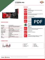 msi-x470-gaming-pro-datasheet