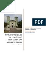 Título Virreinal de San Miguel de Aquila 00