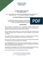 Acuerdo Número 200.02.2009 del 31 de mayo de 2016