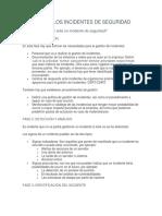 GESTIÓN DE LOS INCIDENTES DE SEGURIDAD trabajo
