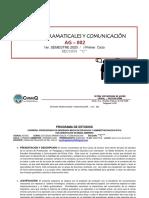 Programa Estudios Gramaticales y Com