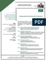 Plan de formation  Intervenants pour la formation de Responsable Administratif et Financier (1)