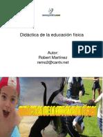 DIDACTICA DE LA EDUCACIÓN FISICA