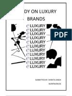 Study on Luxury Brands