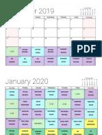 PLE 2020 review calendar