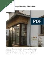 5 motive să alegi ferestre și uși din lemn stratificat