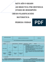 PUD MATEMATICA CUARTO