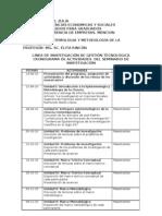 Cronograma de Actividades del Seminario de Investigación de Gestión Tecnológica