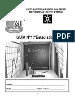 GUÍA PSU N°1 ESTADÍSTICA I