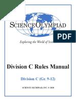 division c rules manual