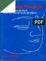无心:佛教沉思与身心问题