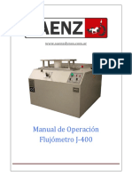 Manual Flujómetro J-400