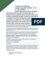 BENEFICIOS DE LAS DROGAS